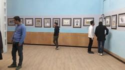 نمایشگاه انجمن کاریکاتور در جهرم افتتاح شد