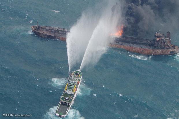 عملیات اتفای حریق نفتکش ایرانی