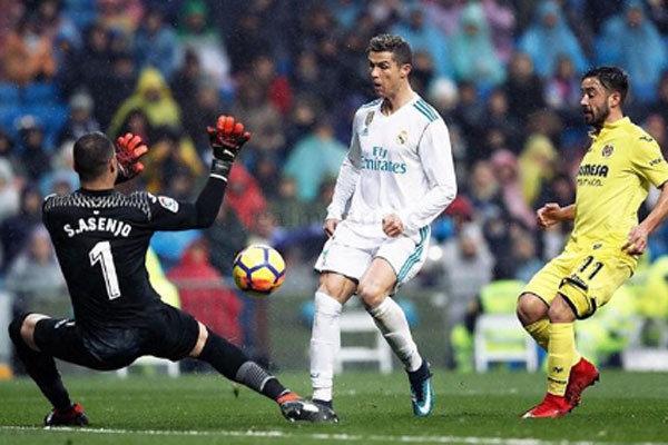 دیدار تیم های فوتبال رئال مادرید و ویارئال
