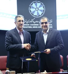 Masoud Khansari (L) and Hassan Qazizadeh Hashemi