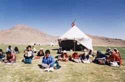 A tent nomad school in Iran