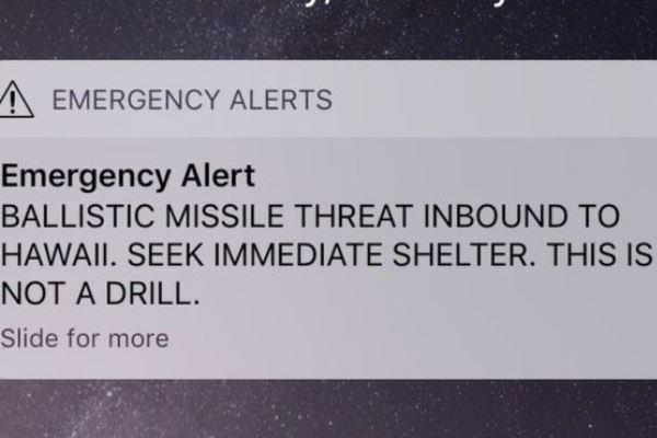 هشدار موشکی هاوایی