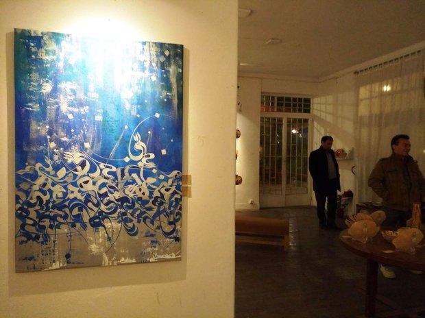 نمایشگاه«جلال خط و جلوه رنگ» تمدید شد/بیان احساس به واسطه فرم