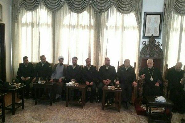 رئیس پلیس پایتخت با خلیفه ارامنه دیدار کرد