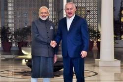 نتانیاهو- نارندرا مودی