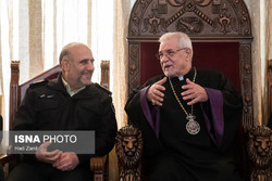 Tehran police chief visits Saint Sarkis Cathedral
