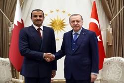 صدر اردوغان کی قطر کے بادشاہ سے ملاقات