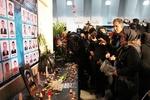 مراسم وداع خانواده های شهدای گیلانی نفتکش سانچی در انزلی برگزارشد