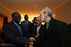 لقاءات لاريجاني على هامش مؤتمر رؤساء برلمانات الدول الاسلامية /صور