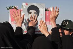 مراسم  استقبال از پیکر مطهر شهید حمید انبارکی در بوشهر