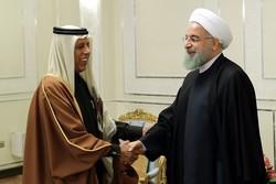 دیدار روحانی با رئیس مجلس قطر