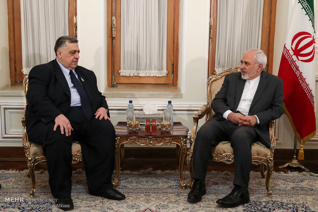 FM Zarif meets Syrian Parliament Speaker Sabbagh
