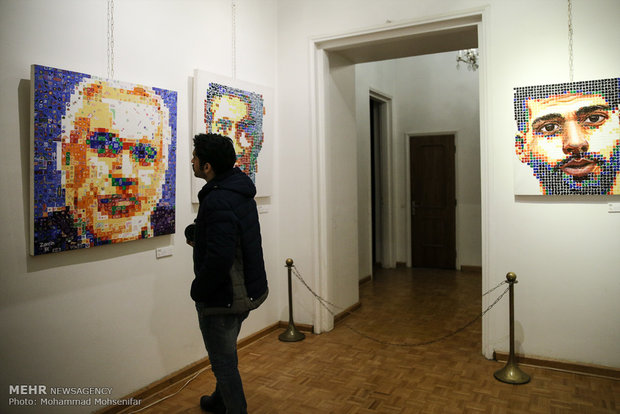 Exhibition of Iranian athlete portraits, Tehran
