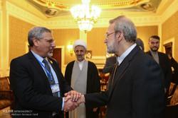 دیدار های رئیس مجلس شورای اسلامی در حاشیه کنفرانس مجالس اسلامی