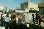 تندباد سبب واژگونی تعدادی از کانکس های زلزله زدگان شد