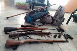 دستگیری ۴متخلف شکارچی در منطقه شکار ممنوع خرمنه سر طارم