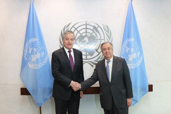 وزیر خارجه تاجیکستان با دبیرکل سازمان ملل دیدار کرد