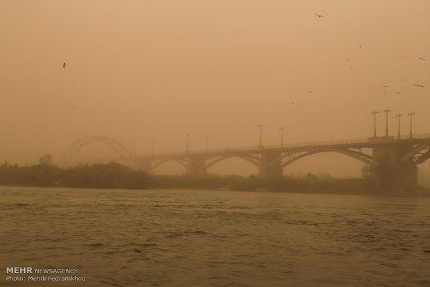 گرد و خاک خوزستان را فرا گرفت