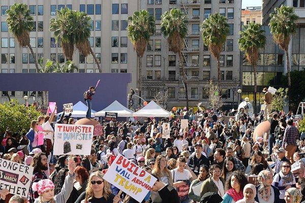 راهپیمایی در روز انتخاب ترامپ/ بازیگران به صف مردم میپیوندند