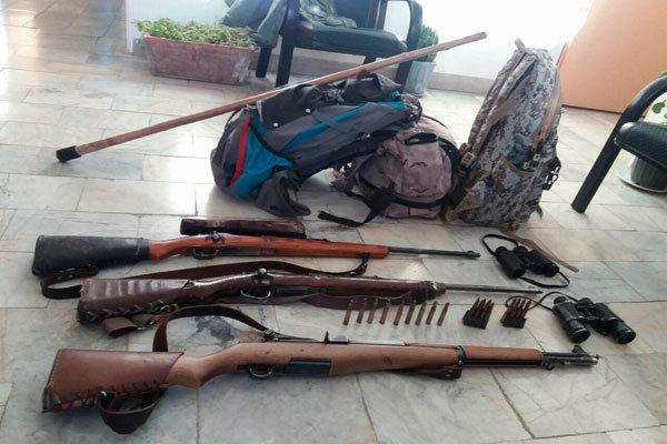 دستگیری یک گروه شکارچی غیرمجاز در پناهگاه حیات وحش یخاب