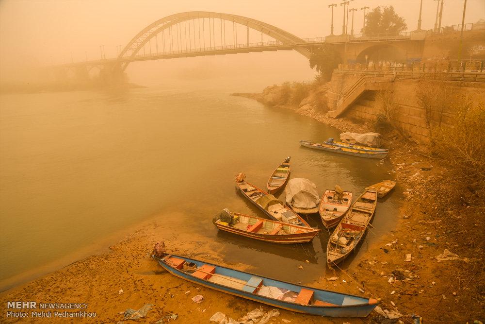 """Ahvaz kentindeki """"toz bulut"""" sorunu devam ediyor"""