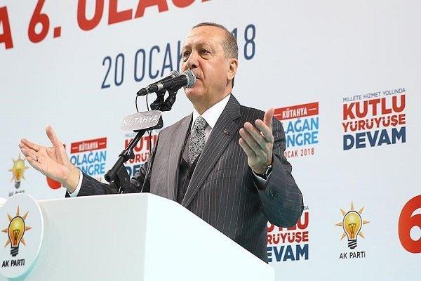 اردوغان تصرف شهر عفرین را اعلام کرد