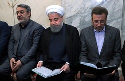 Rouhani attends sailors' memorial ceremony
