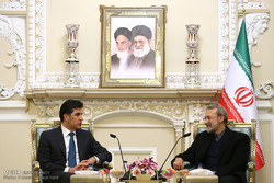 دیدار نیچروان بارزانی نخست وزیر اقلیم کردستان عراق با علی لاریجانی رئیس مجلس شورای اسلامی