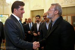 لقاء لاريجاني مع رئيس حكومة اقليم كردستان / صور