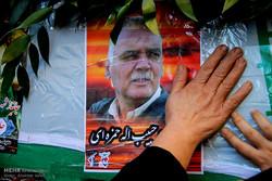 مراسم تشییع پیکر مطهر جانباز شهید حبیب حمزه ای در گرگان