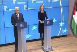 اروپا سخنان «محمود عباس» را مانعی برای راهحل دو دولتی خواند