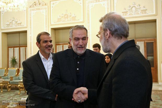 لقاء لاريجاني مع رئيس وزراء اقليم كردستان