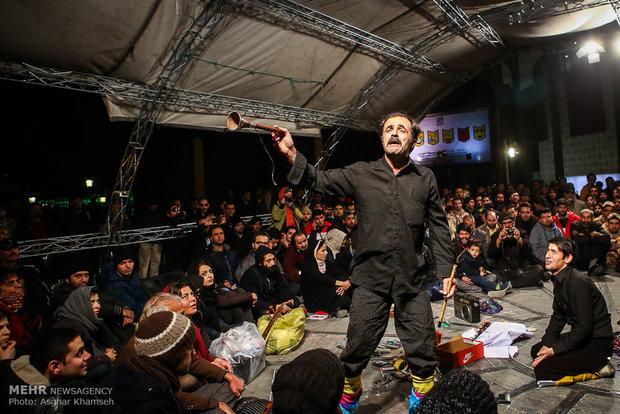 Street performances of Fajr Theater Festival