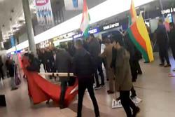 درگیری در فرودگاه هانوفر آلمان