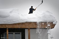 بارش سنگین برف در داووس سوئیس