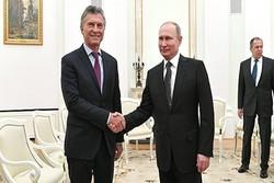 پوتین با همتای آرژانتینی خود دیدار کرد