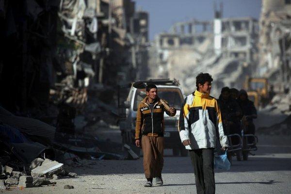 شهر الرقه در شمال سوریه