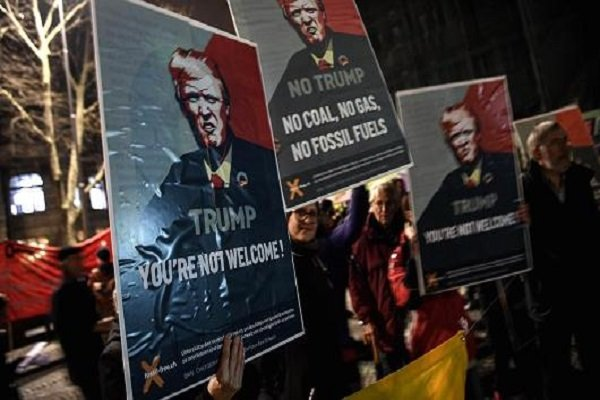 Thousands protest in Switzerland against Trump's visit