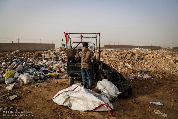 دفع غیر اصولی زباله ها در اهواز