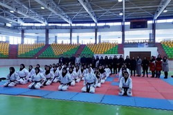 رقابت های کاراته المپیاد استعدادهای برتر کشور در سنندج آغاز شد