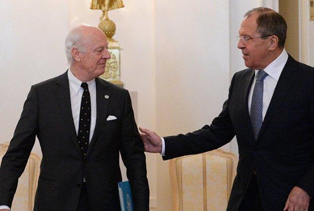 Lavrov, De Mistura discuss preparations for SNDC