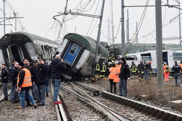 خروج قطار از ریل در ایتالیا