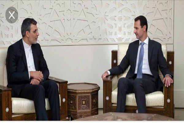 انصاري يلتقي مع بشار الاسد ويتباحث معه حول قضايا مشتركة
