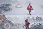 فیلم امدادرسانی به افراد گرفتار در برف و کولاک در جاده های قزوین