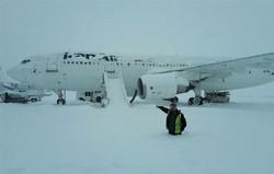 بارش برف فرودگاه امام