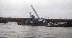 Warship sinks in Caspian Sea