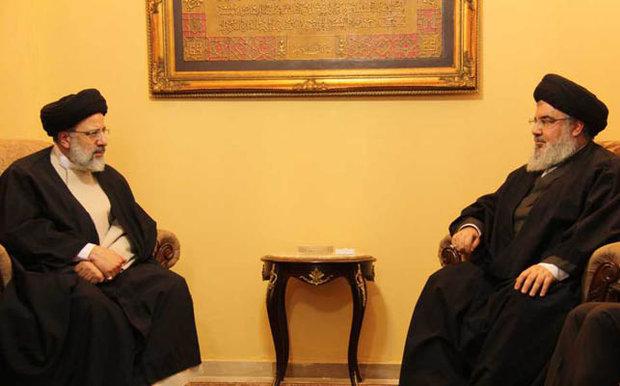 السيد نصرالله يستقبل عضو مجلس خبراء القيادة السيد ابراهيم رئيسي