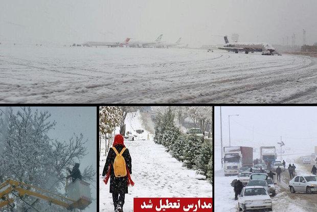استمرار المنخفض الجوي وتعطيل المدارس في أغلب المحافظات الايرانية