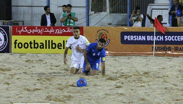 Iran wins Ukraine in 2nd Persian Beach Soccer Cup