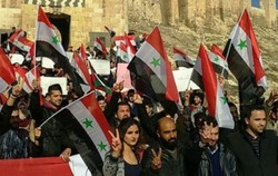 Solidarity stand in Aleppo rejecting US intervention in Syria
